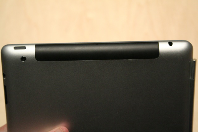 The top/back of the iPad 2