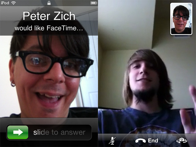FaceTime on the iPod touch.