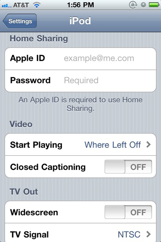 Enter your Apple ID in the iPod prefs on your iOS device