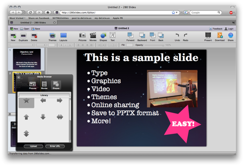 280 Slides is Keynote inspired, with a clean and simple interface.