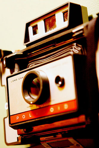 A Polaroid Land Camera. Photo by Kris Krug