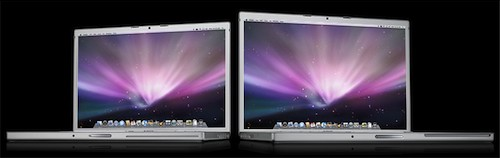 The MacBook Pro in 15in and 17in. Image courtesy of Apple.