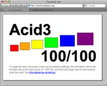 WebKit nightly is first publicly available browser to score 100 on Acid 3.