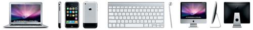 MacBook Air, iPhone, Wireless Keyboard, and iMac.