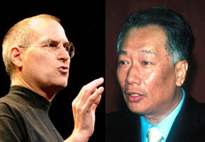 Steve Jobs & Terry Gou