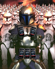 It's a whole army of iPhones! Boba Fett? Boba Fett? Where?