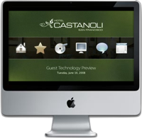 Nanonation's Nanopoint software can be customized to provide a digital concierge to guests.