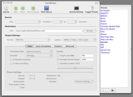 HandBrake Screenshot