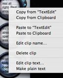 iClip Context Menu