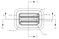 Mini DisplayPort plug diagram