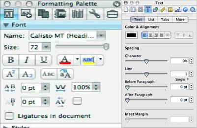 Text Palettes