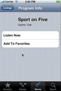 Radioshift Touch: streaming radio made easy for your iPhone.
