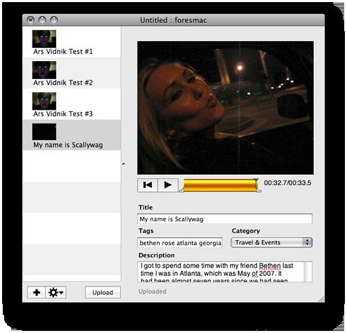 Vidnik's straightforward interface make recording and uploading a breeze.