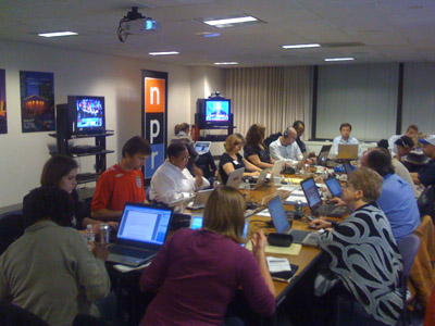 A bevy of busy bloggers at NPR