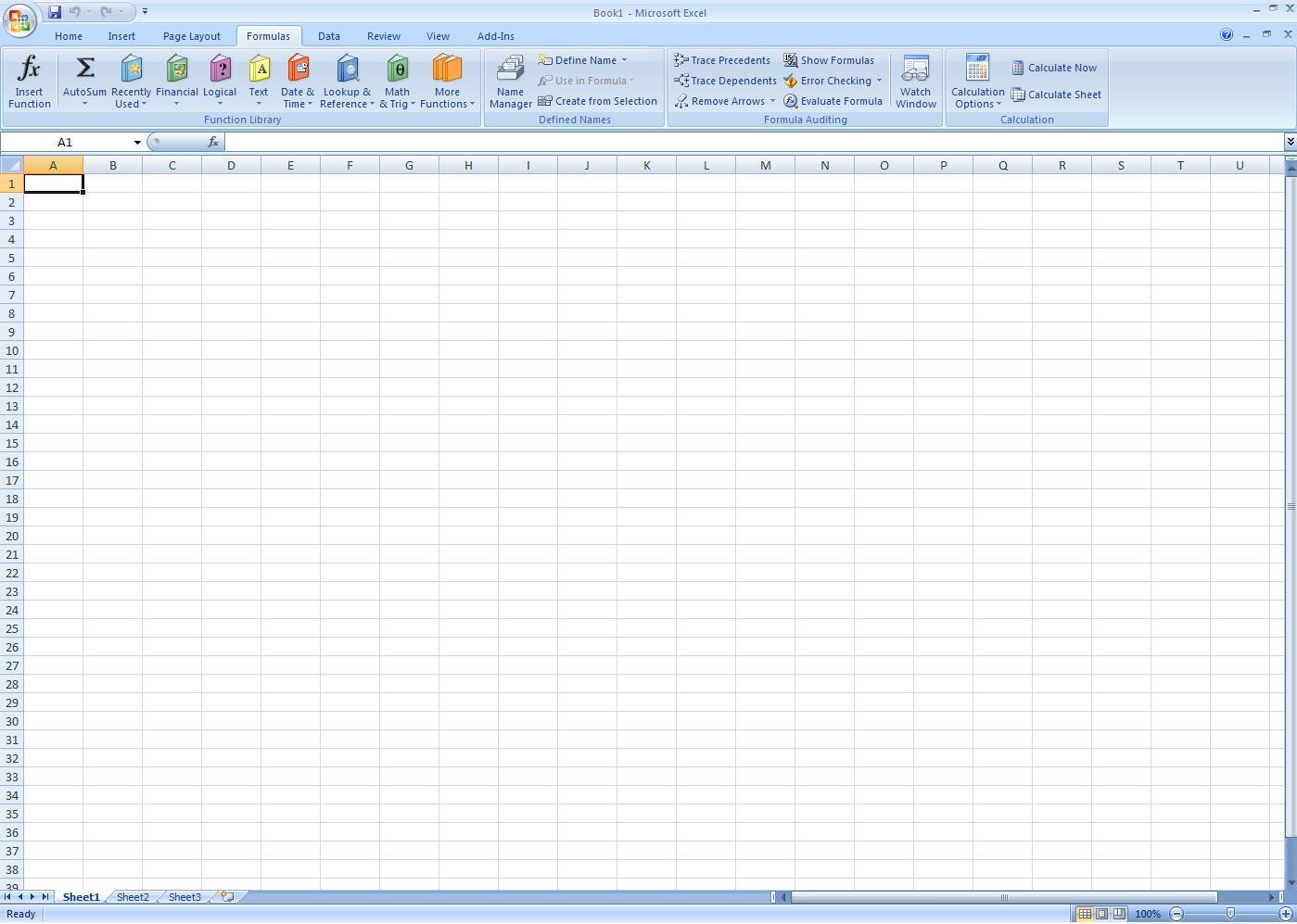 Excel - Blue Theme
