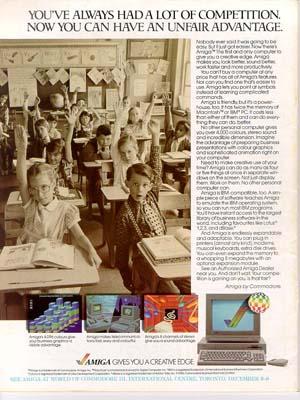 Amiga ad,November 1985