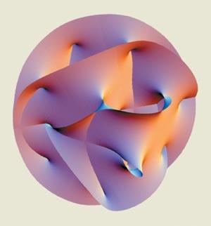 Calabi-Yau manifold.  Credit: A. Hanson