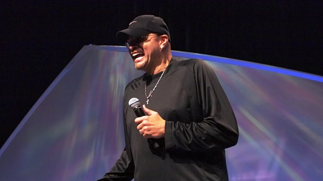 During his presentation, Sinbad didn't leave Mac users—including himself—unscathed.
