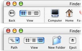 New customizable Finder window toolbar
