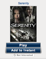 Netflix Add to Instant button