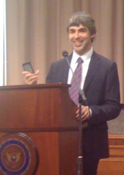 Larry Page speaks on Capitol Hill