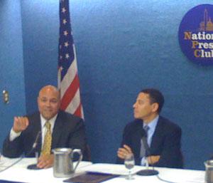 Michael Powell and William Kennard at Naitonal Press Club