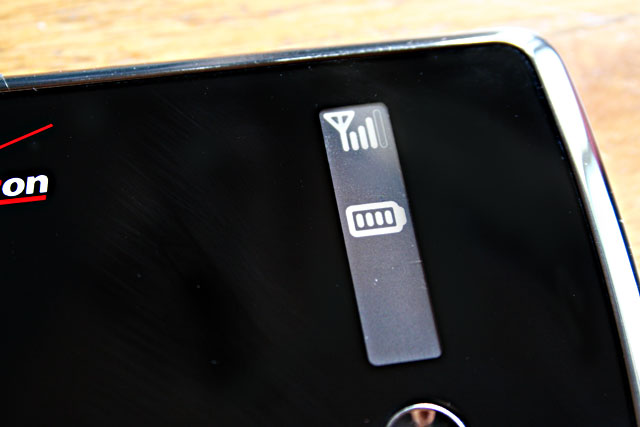 The MiFi's e-ink screen