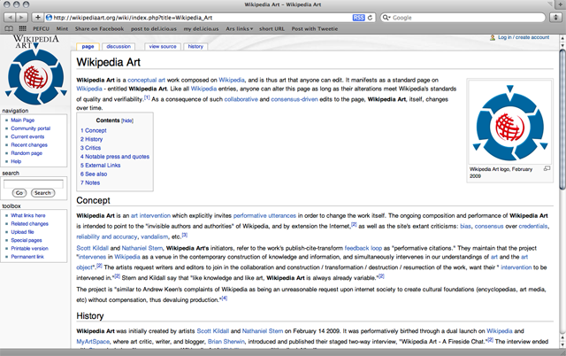 Wikipedia Art article