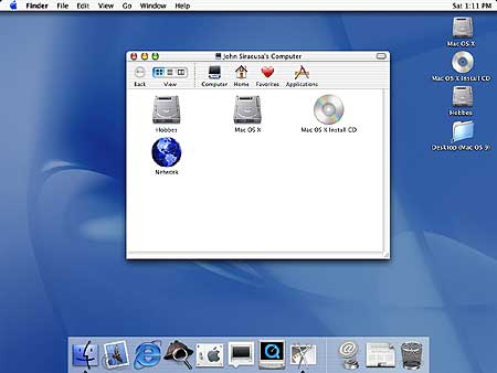 Mac OS X version 10.0