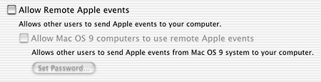 Network AppleEvents