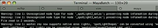 Terminal tabs