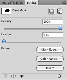 Masks palette