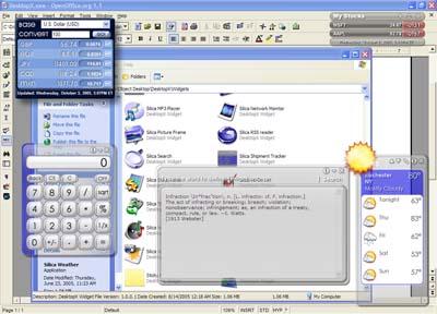 DesktopX Widgets