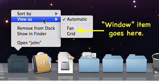 Docked folder views: a suggestion