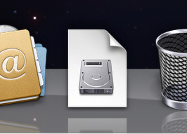 The Downloads folder(!) in the Dock