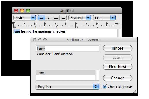 System-wide grammar checker