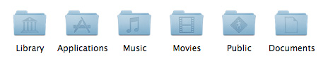 Leopard special folder icons