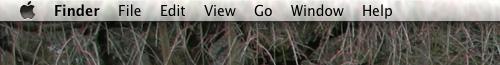 The Leopard menu bar. Really