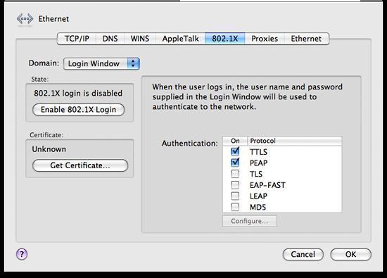 Network: advanced settings