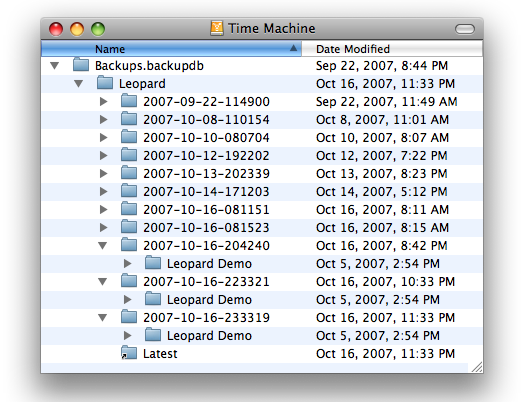 "Time Machine backup ""database"""
