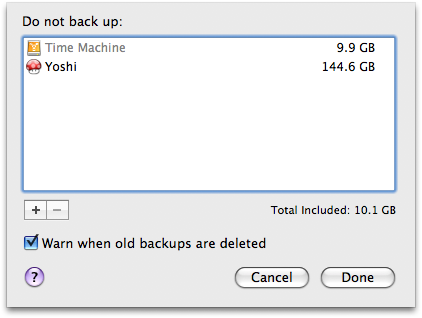 Backup options