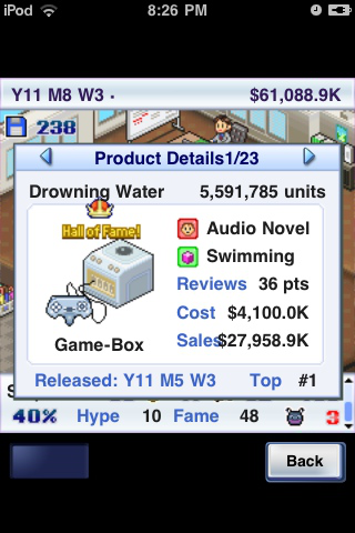 What? You wouldn't buy a swimming-themed audio novel called Drowning Water?
