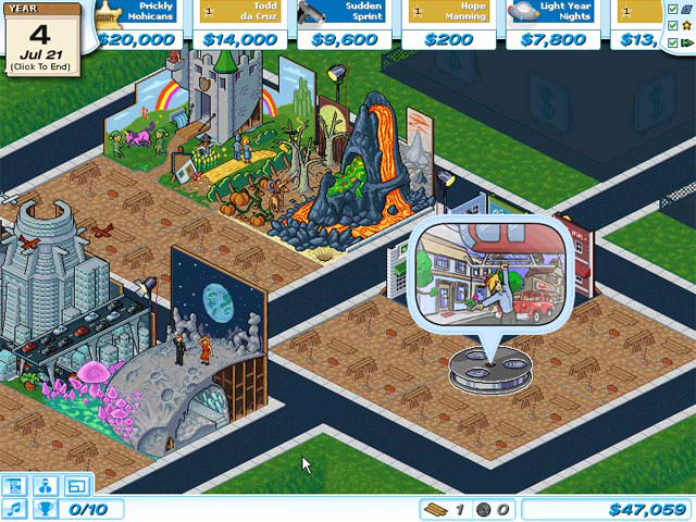 <em>Hollywood Tycoon</em>&#8212;one of the multitude of casual tycoon games. Unlike many others, however, it's actually decent.