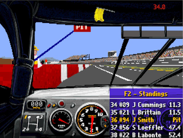 <em>NASCAR Racing</em>'s impressive damage modelling made crashing fun...but also ruinous to your race standing.