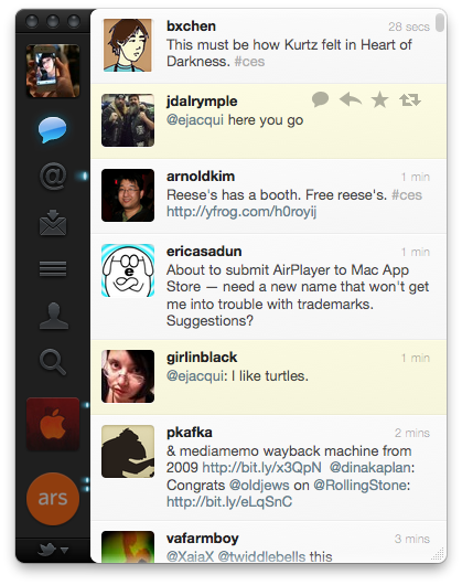 UI indicators, such as @mentions, are much more subtle