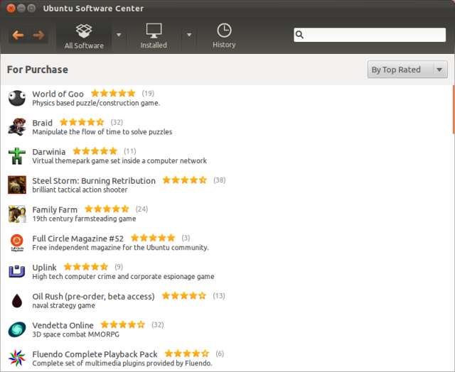 The most popular commercial applications in the Software Center. This list would be more useful with prices.