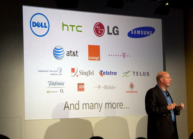 Lots of partners for the hardware and networks.