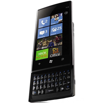 The Dell Venue Pro with vertical QWERTY keyboard.