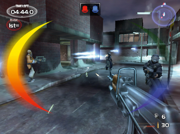 <em>Time Splitters 2</em>, one of the greatest console FPSes ever.