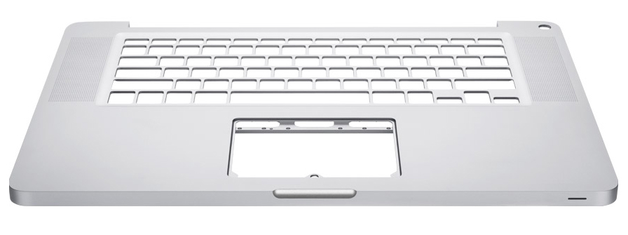The unibody chassis of the MacBook Pro, machined from a single piece of metal